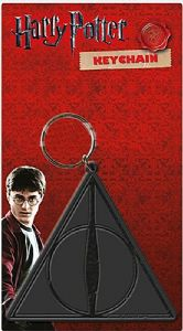 "Harry Potter ""Deadly Hallows Logo"" PVC flexible keyring (py)"
